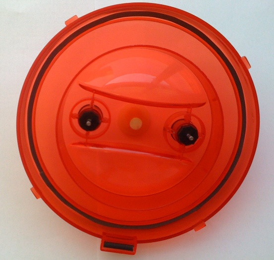 Spare lid (rojo)<br>with removable bearings