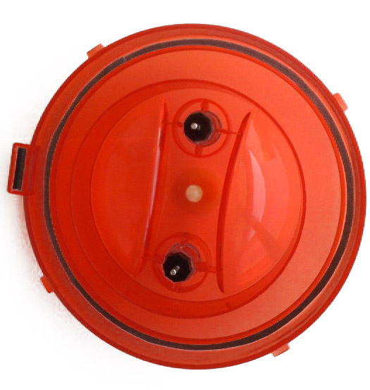 Spare lid (red)<br>with removable bearings